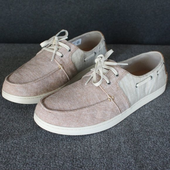 Toms Culver Casual Boat Shoes, Tan Red Beige, Men'